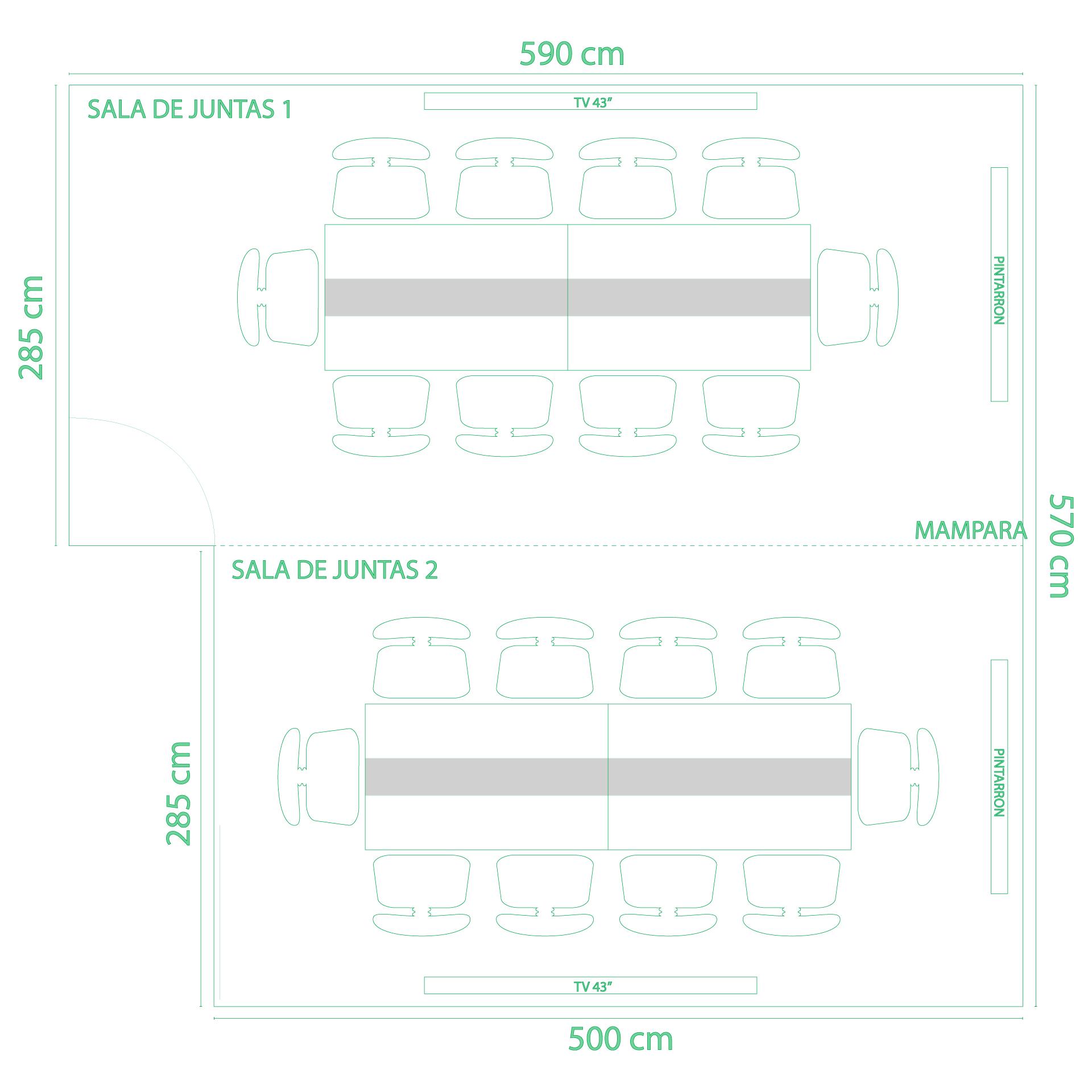 Mapa de Salas de Juntas